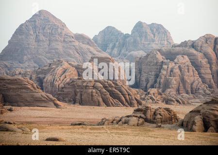 Rock fromations, Wadi Rum, Jordanie, Moyen-Orient