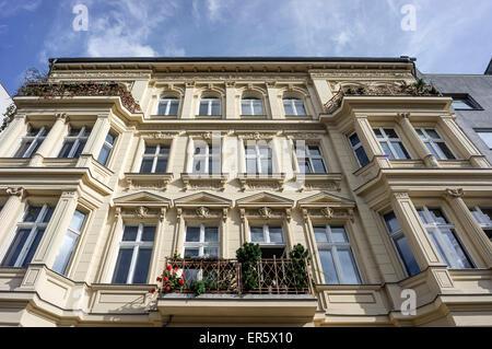 Maison rénovée à Prenzlauer Berg, Berlin, Allemagne Banque D'Images