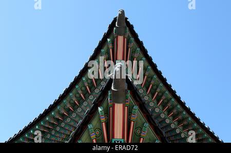 Détail de la palais Changdeokgung à Séoul, Corée du Sud Banque D'Images