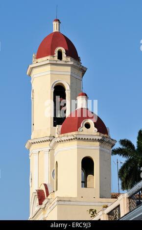 Cathédrale, Catedral de la Purisima Concepción, Parque José Marti, province de Cienfuegos, Cuba Banque D'Images