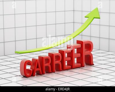 Augmentation du succès carrière concept avec flèche. Banque D'Images