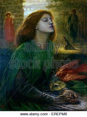 Beata Beatrix par Dante Gabriel Rossetti, ch. 1864-70. Huile sur toile; support: 864 x 660 mm châssis. Le DGB: Banque D'Images