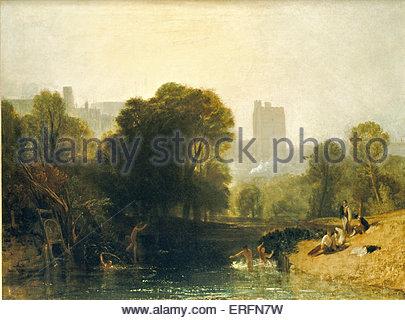 """'Le Château de Windsor"""" - peinture de Joseph Mallord William Turner. JMWT, peintre anglais: 1775 - 1851. Banque D'Images"""