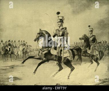Nicolas Ier de Russie à cheval - D'après une peinture par Franz Krüger. Nicolas I: 6 juillet 1796 - 2 mars 1855. Banque D'Images