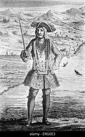 """""""Capitaine Bartholomew Roberts', gravure. CBR: buccaneer gallois sous le nom de Black Bart (bien que pas dans sa Banque D'Images"""