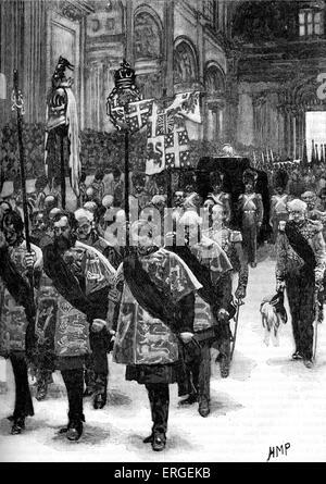 Enterrement d'Arthur Wellesley, 1er duc de Wellington. Funérailles d'État le 18 novembre 1852, à la cathédrale St Banque D'Images
