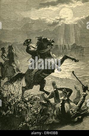 L'île au trésor de Robert Louis Stevenson. Sous-titre suivant: 'Down allé Pew avec un cri qui retentit dans la nuit haute' .Ch V 'La