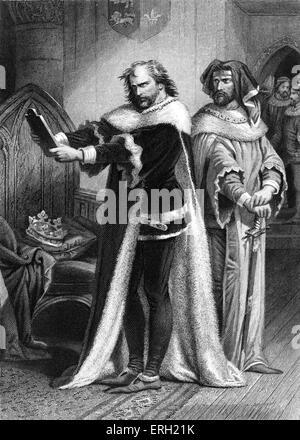 Le roi Richard II (Acte IV Scène 1), pièce de William Shakespeare. Richard et Bolingbroke. 'Le Roi Richard: une Banque D'Images