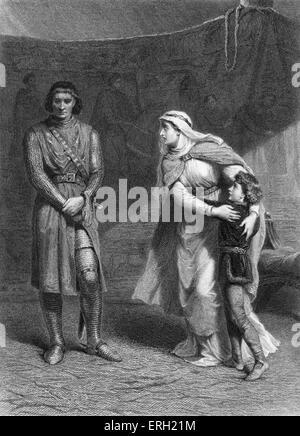 Le roi Jean (Acte III Scène 1), pièce de William Shakespeare. Constance, Arthur et Salisbury. Constance: 'O, si Banque D'Images