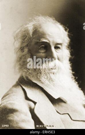 Walt Whitman, poète américain - portrait - 1819-1892