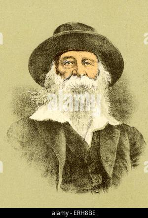 Walt Whitman, poète américain, 1819-1892 Banque D'Images