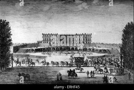 Château de Versailles, le palais du roi français Louis XIV (1638-1715). Banque D'Images