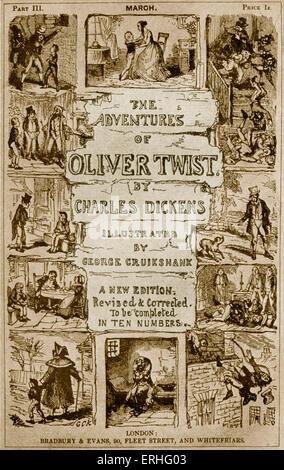 Les aventures d'Oliver Twist de Charles Dickens' - 'Une nouvelle édition revue et corrigée. Se terminer en dix chiffres.' Banque D'Images