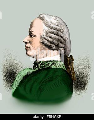 Jean Le Rond D'Alembert - portrait du mathématicien, physicien et philosophe. 16 novembre 1717 - 29 octobre 1783. Banque D'Images