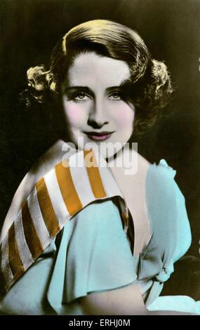 Norma Shearer - portrait de l'actrice américaine née au Canada. La star de cinéma cinéma muet. 10 août 1902- 12 Banque D'Images