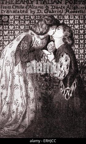 Dante Gabriel Rossetti - 'Early Italian Poets', 1861. Le poète anglais, l'artiste et le traducteur 's design pour Banque D'Images