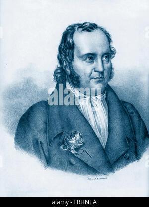 Johann Paul Friedrich Richter ou Jean Paul né Johann Paul Friedrich Richter. L'écrivain allemand. 21 mars 1763 - 14 novembre 1825