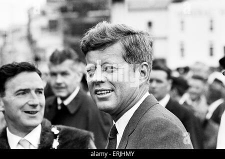 La visite du président américain John F. Kennedy à l'Irlande. Juillet 1963. Banque D'Images