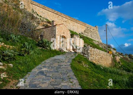La Fortezza, forteresse à Rethymno, Crète, îles grecques, Grèce, Europe Banque D'Images