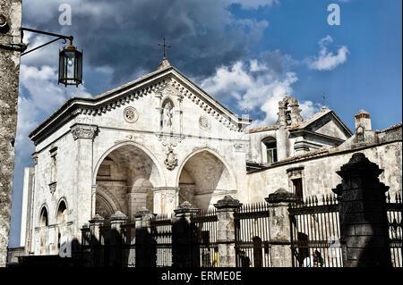 Gargano Pouilles Monte San'Angelo S. Michel Archange Sanctuary Banque D'Images