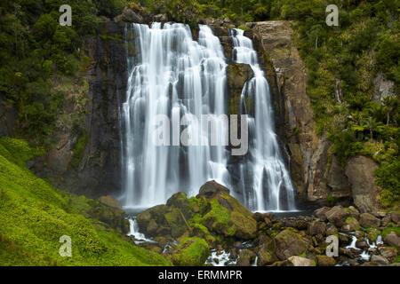 Marokopa Falls, District de Waitomo, Waikato, Nouvelle-Zélande, île du Nord Banque D'Images