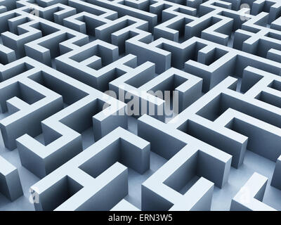 Labyrinthe à partir de la perspective de fuite . Banque D'Images