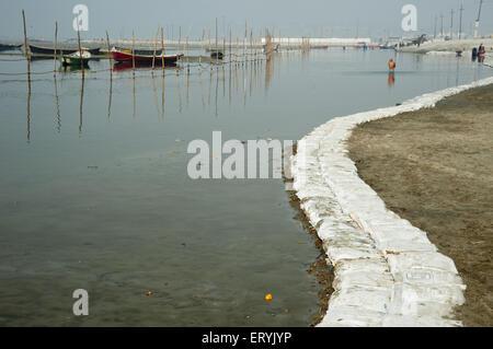Gange à Allahabad à Uttar Pradesh en Inde Banque D'Images