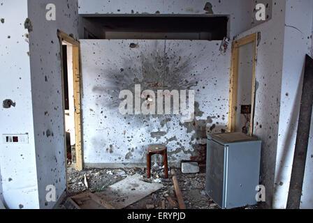 Grenade et balles sur mur à nariman house centre communautaire juif par deccan mujahedeen attaque terroristes à Banque D'Images