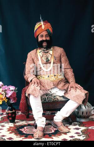 L'homme du Rajasthan Jaipur Rajasthan;;; l'Inde Pas de MR Banque D'Images