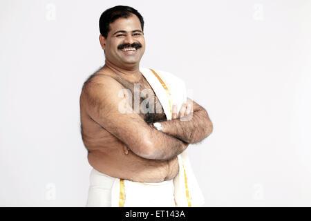 Homme portant robe indienne du sud de l'Asie de l'Inde M.#790E Banque D'Images