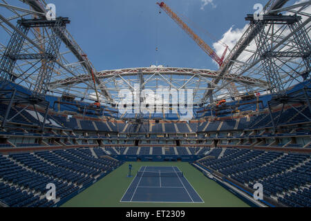 Flushing Meadows, New York, USA. 10 Juin, 2015. L'United States Tennis Association héberge le placement de la dernière Banque D'Images