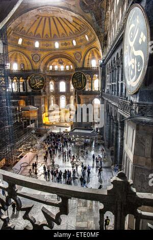 Sainte-sophie est une ancienne basilique patriarcale grecque orthodoxe, plus tard une mosquée impériale, et maintenant Banque D'Images