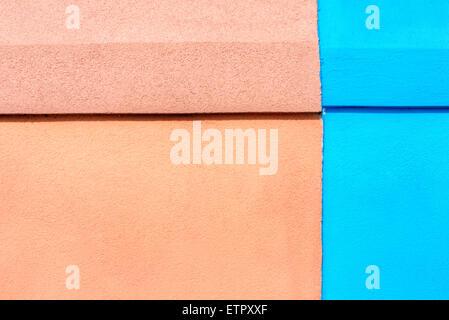 Façade de maison, contraste des couleurs, Burano, Venise, Vénétie, Italie, Europe Banque D'Images