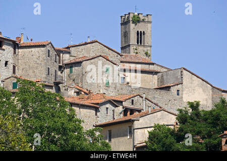 L'Europe, Italie, Toscane, Santa Fiora Banque D'Images