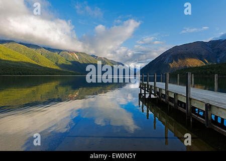 Lac Rotoiti, Nelson Lakes National Park, New Zealand, Banque D'Images