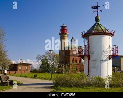Les phares de cap Arkona, Rügen, Allemagne Banque D'Images