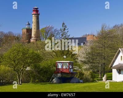 Ancien et nouveau phare à Cap Arkona, Rügen, Allemagne Banque D'Images