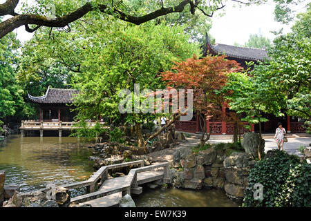 Jardins de Yuyuan de Shanghai Yu Yuan Garden Bazaar Chine chinois Banque D'Images