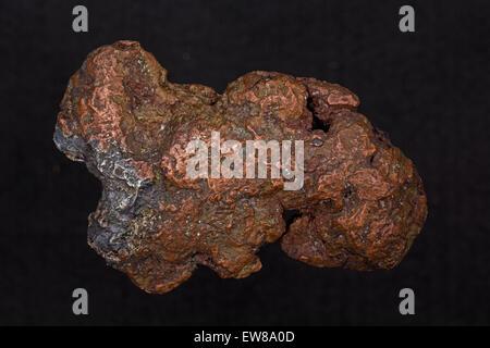 Le cuivre et l'argent 'Nugget' halfbreed, delaware mine, Michigan Banque D'Images