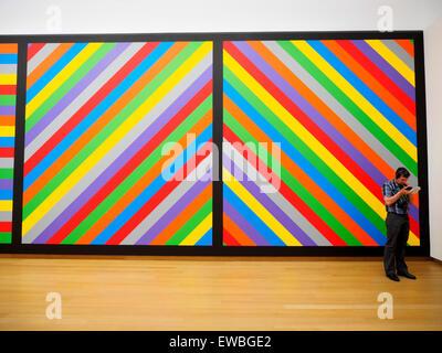 Sol Lewitt (Hatford, Connecticut (États-Unis), 1928 - New York, New York (US) 2007 #1084 Mur Dawing, 2003 première Banque D'Images