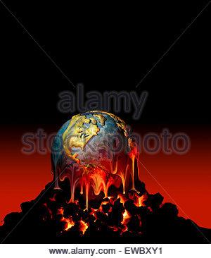 Un globe terrestre sur fond un monticule de charbon. (Illustration)