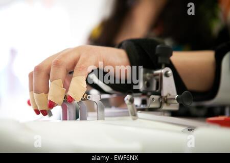 Femme en réadaptation Banque D'Images