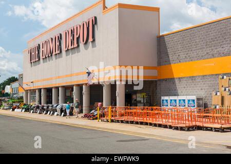 Chaîne de magasins de matériel de Home Depot à Manassas, Virginie, USA Banque D'Images