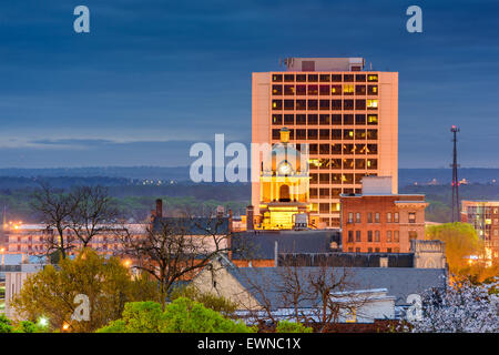 Macon, Géorgie, USA Centre-ville paysage urbain. Banque D'Images