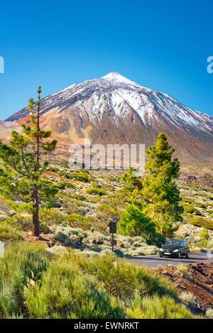 Le Mont Teide, le Parc National du Teide, Canaries, Tenerife, Espagne Banque D'Images