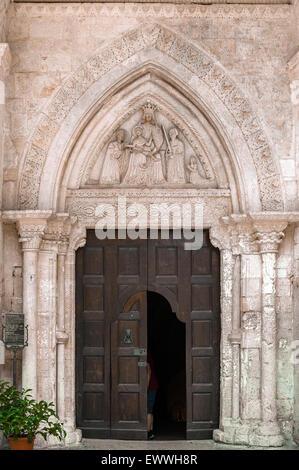 Gargano Pouilles Monte S. Angelo grotte Sanctuaire de l'église Saint Michel Archange Banque D'Images