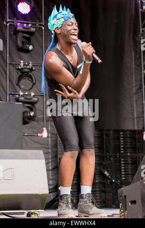 Dover, Deleware, USA. 19 Juin, 2015. LE rappeur1F effectue sur scène à la Firefly Music Festival à Dover, Delaware © Daniel DeSlover/ZUMA/Alamy Fil Live News
