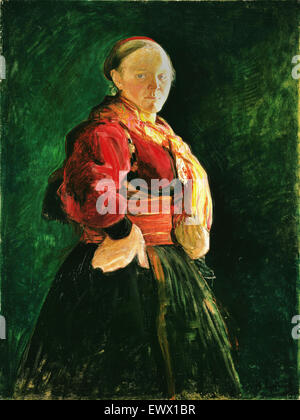 Halfdan Egedius, Portrait de Mari Clasen 1895 Huile sur toile. Musée national d'Art, Architecture et Design, Oslo, Banque D'Images