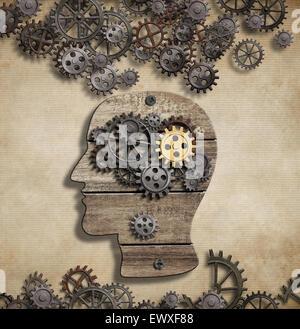 L'activité mentale du cerveau et idée concept Banque D'Images