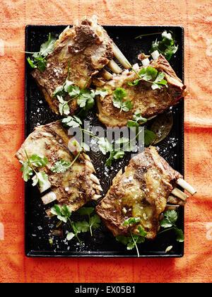Morts de Kashmiri tabak maats (côtes) d'agneau Banque D'Images